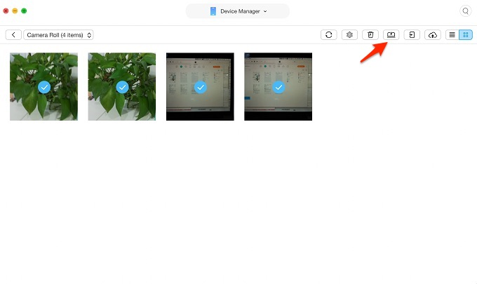 Move Photos from Camera Roll to Album with AnyTrans – Step 2