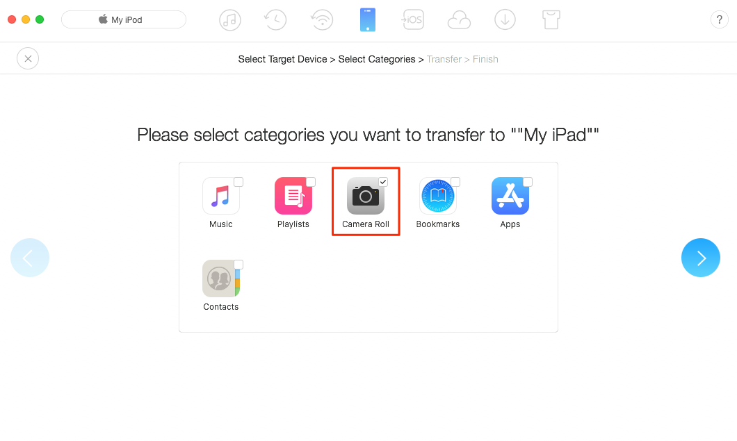How to Transfer Photos from iPod to iPad At Once – Step 2