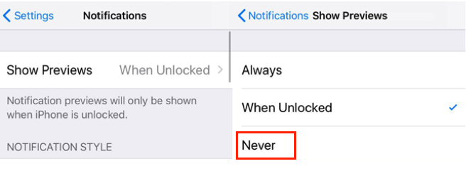 How To Not Show Messages on iPhone via Notifications Preview