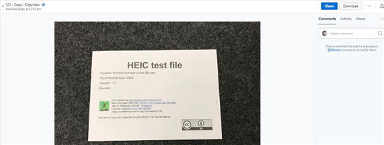 How to Open a HEIC File on Computer via DropBox - Step 2