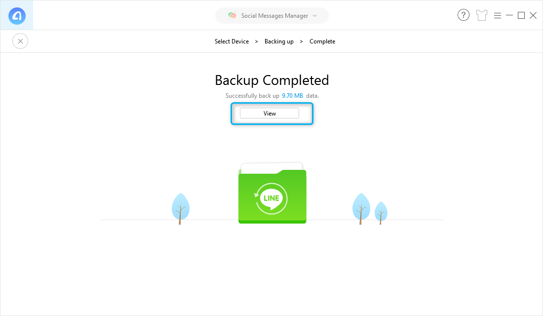 View Backup Files on Computer