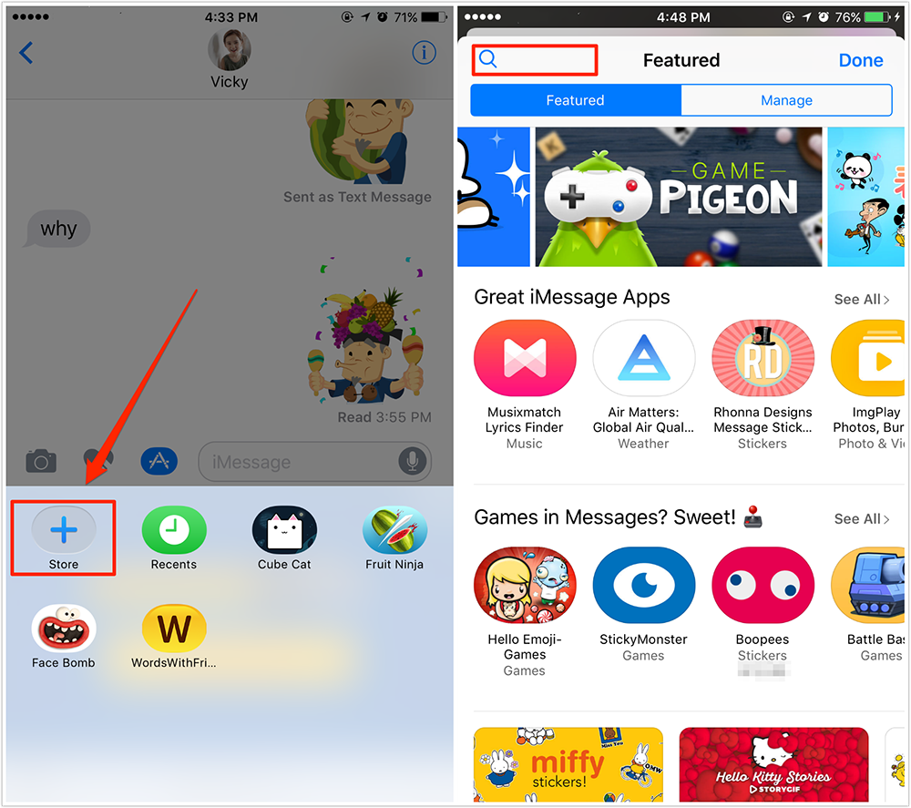 How to Get/Install Games in iMessage – Screen Overview