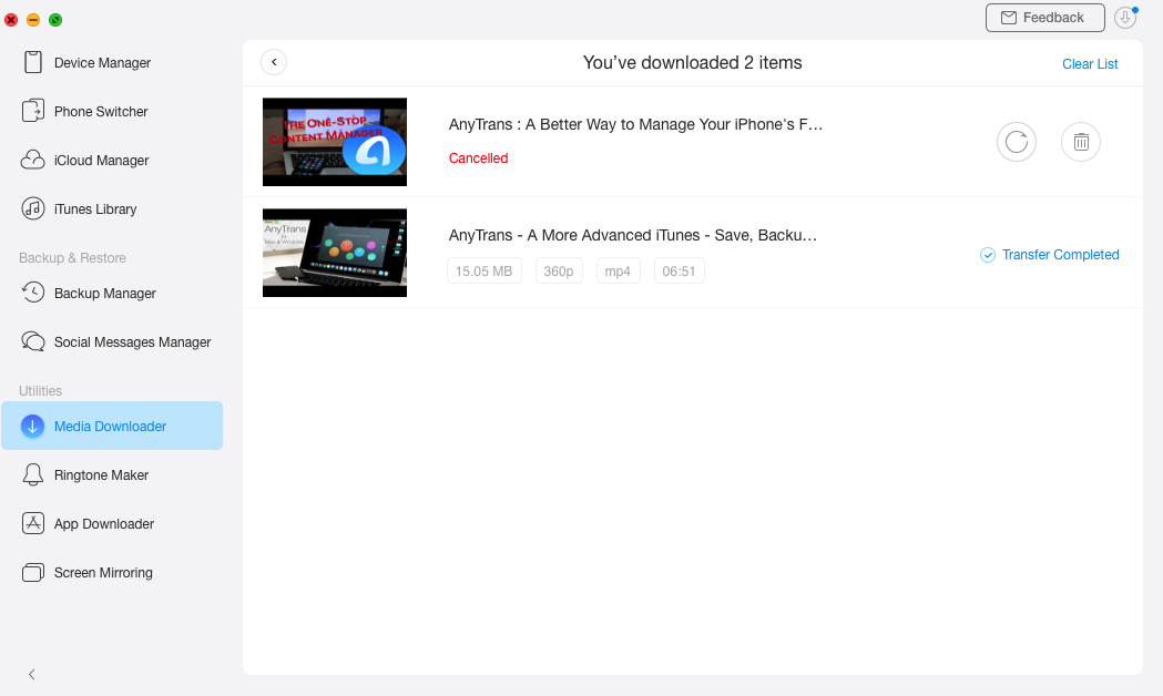Video Successfully Transferred to Your Device