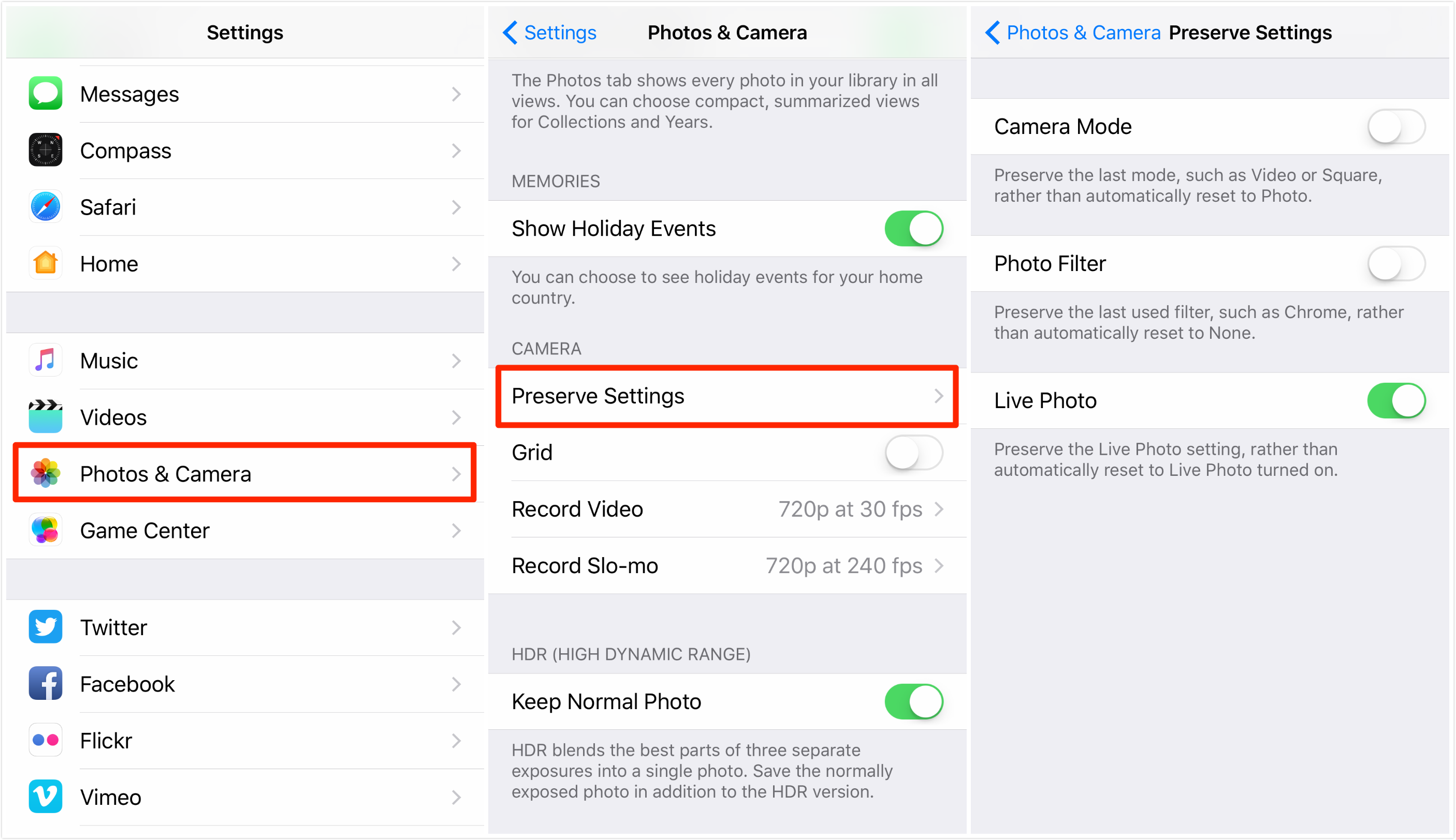 - Imobie Camera How 3 In Guide Preserve To Ios 10 Settings