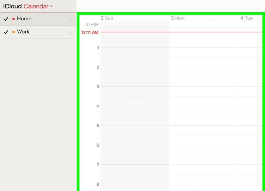 Print iPad Calendar Using iCloud - Step 3