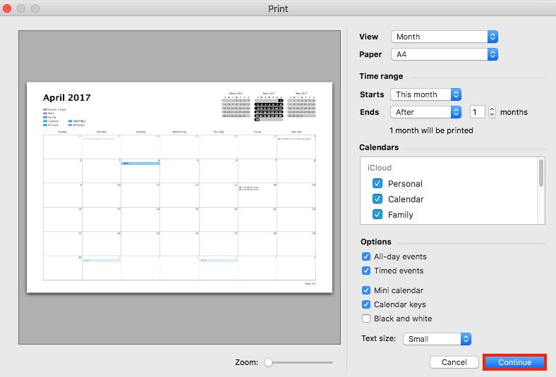 Print iPad Calendar Using Enabling Calendar Sync on Mac