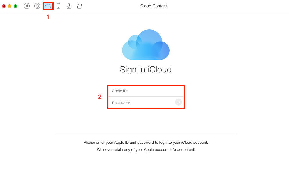 Print iCloud Calendar on Mac/PC with AnyTrans – Step 1