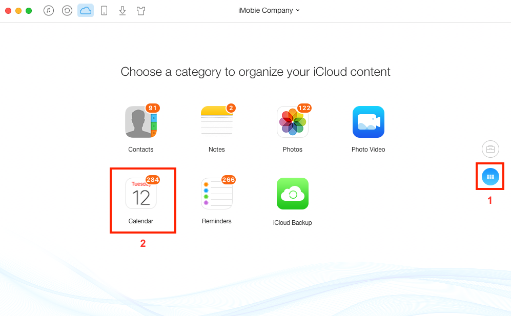Print iCloud Calendar on Mac/PC with AnyTrans – Step 2