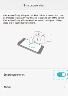 Enable the Smart screenshot feature
