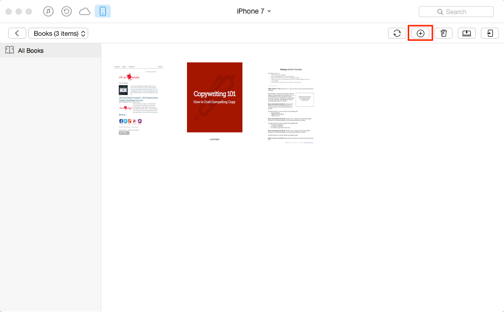 How to Put PDF on iPhone 7 with AnyTrans – Step 2