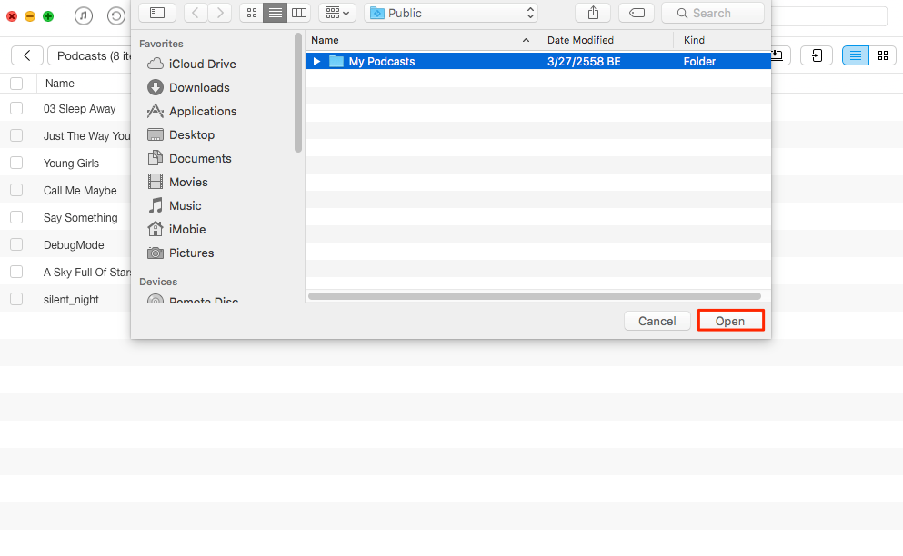 How to Put Podcasts on iPad with AnyTrans – Step 2