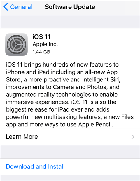 Update the iOS version on your iPhone