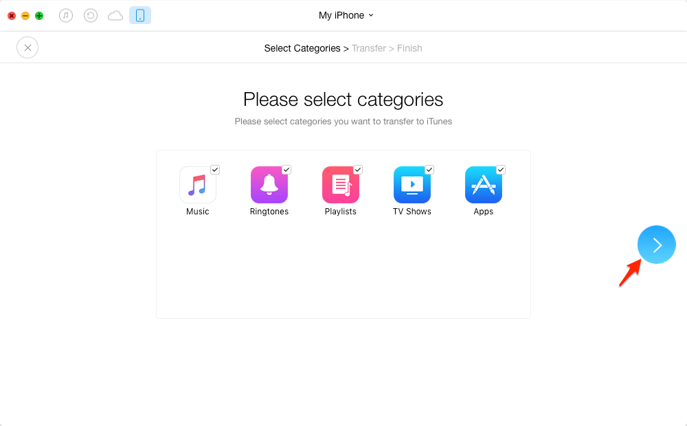 Rebuild iTunes Library via AnyTrans