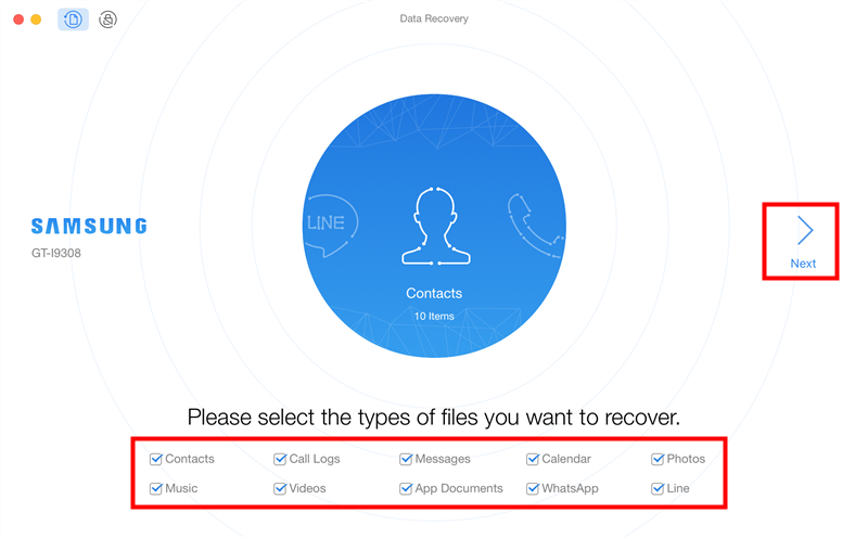Recover Deleted Files from Lenovo - Step 2