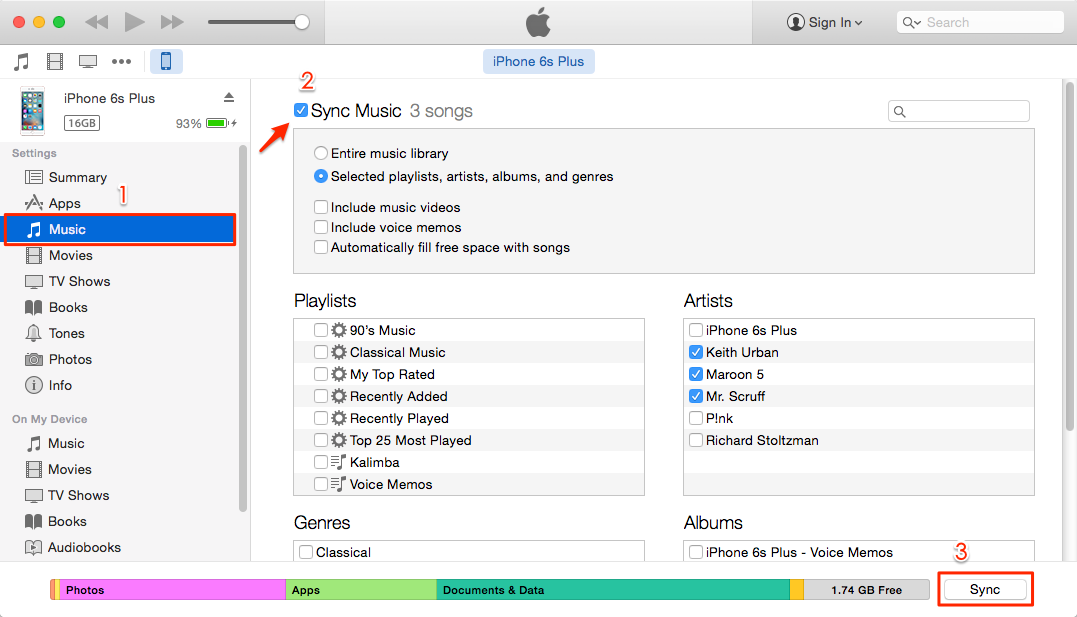 Recover Deleted Music on iPhone from iTunes