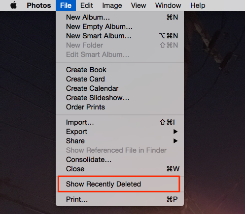 Find Deleted Images in Photos on Mac Yosemite