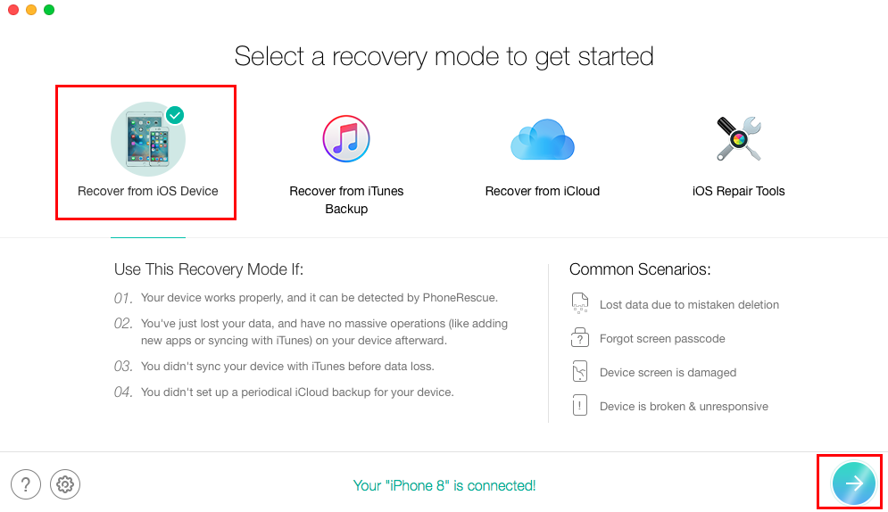 How to Recover HEIC Photos on iPhone without Backup – Step 1