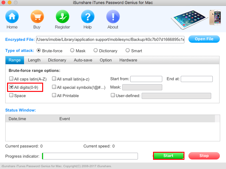 How to Recover iPhone Backup Password - Step 2