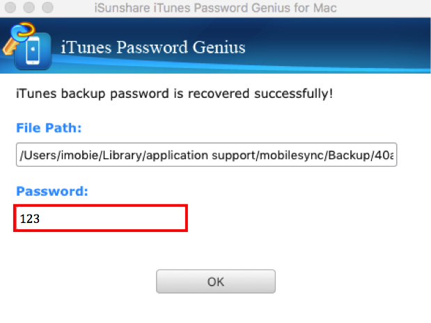 How to Recover iPhone Backup Password - Step 3