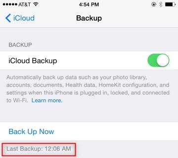 Recover Lost Contacts from iPhone XS – Check iCloud Backup
