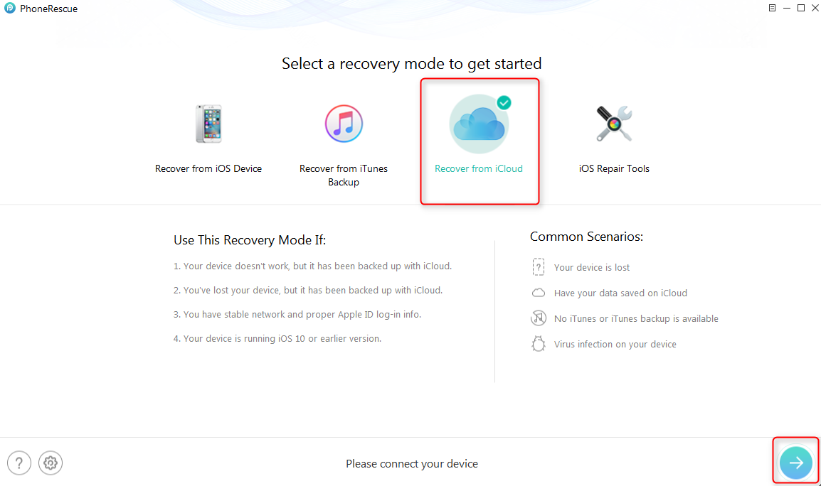Recover Photos from Broken iPhone via iCloud – Step 1
