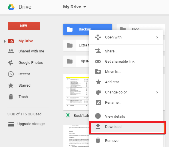 Recover Photos from Google Account Using Google Drive - Step 3