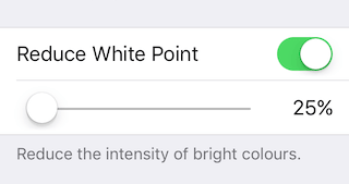 Image result for iphone reduce white point