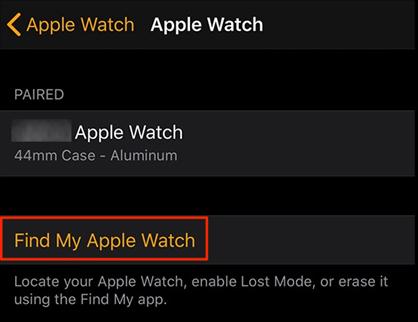 Verify activation lock on Apple Watch
