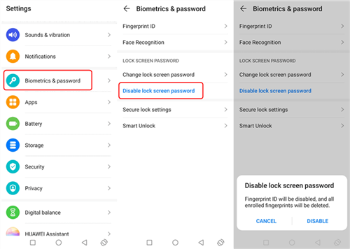 How to Remove Screen Lock PIN on Android - Step 1