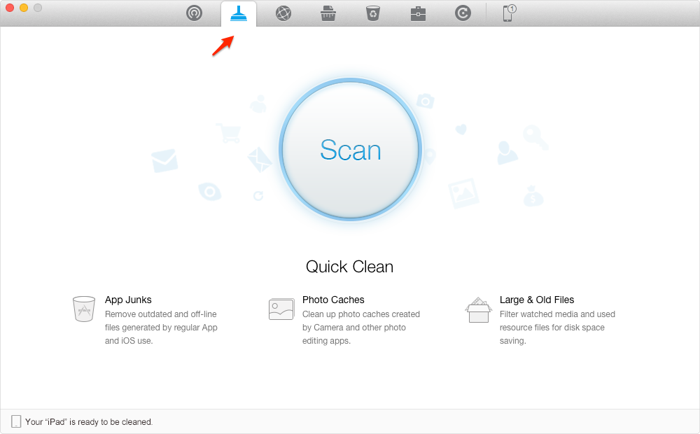How to Clean Junks and Free Up Space with PhoneClean – Step 2