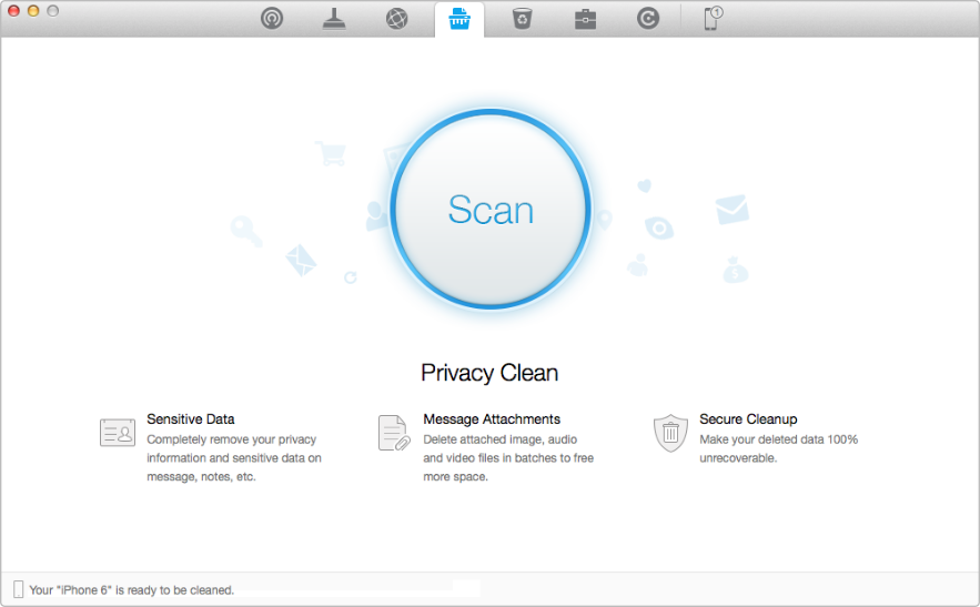 Clear History on iDevice to Protect Privacy with PhoneClean