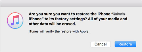 How to Reset Restriction Code on iPhone via iTunes – Step 4