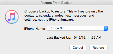 How to Restore Contacts from iTunes Backup with iTunes