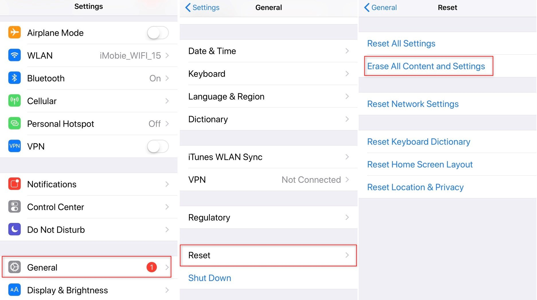 How to restore an ipad without itunes