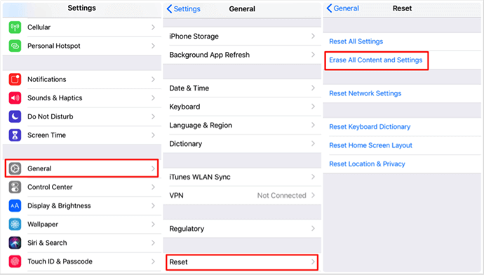 How to Restore iPhone/iPad without Computer via Settings