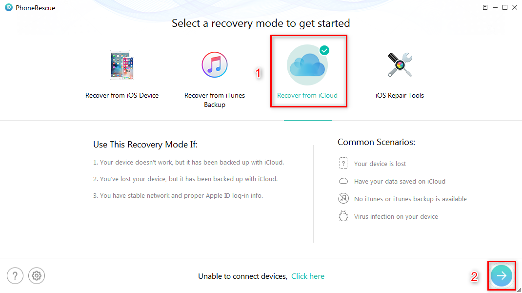 How to Restore iPhone X from iCloud - Step 1