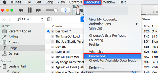 How to Re-download Purchases on iTunes – Step 1