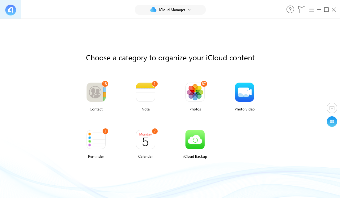 How to Export iCloud Backups with AnyTrans for iOS – Step 2
