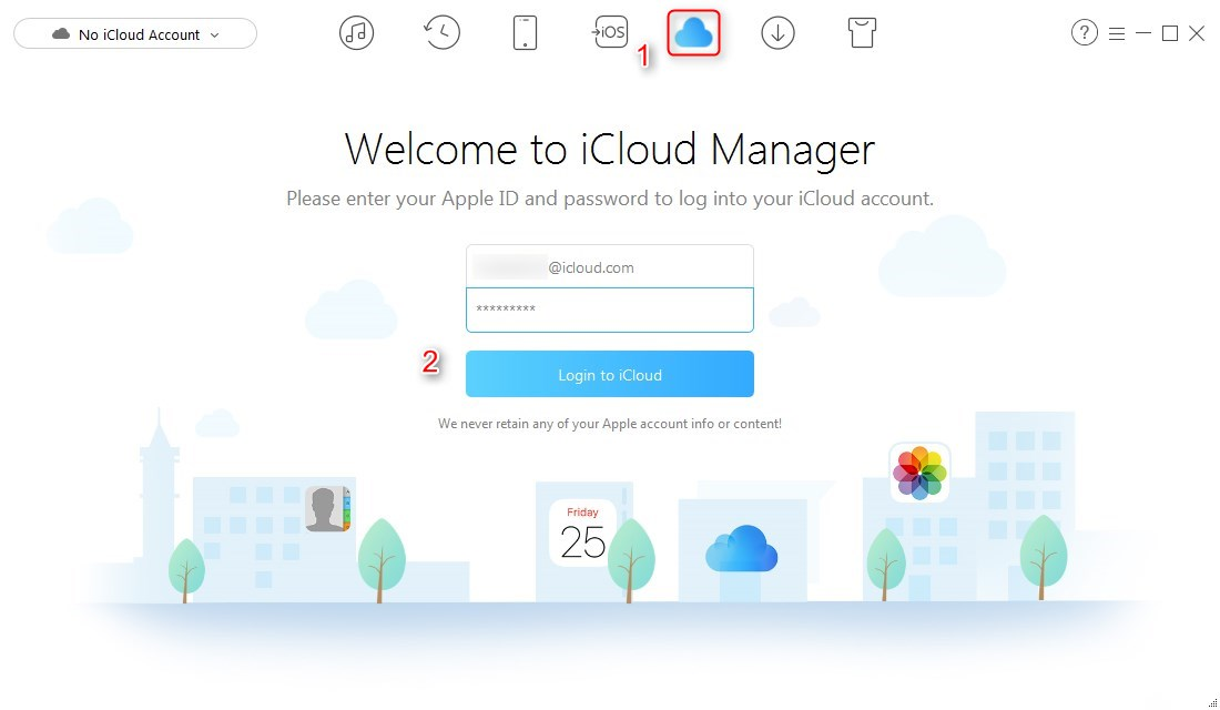 How to Export iCloud Backups with AnyTrans – Step 1