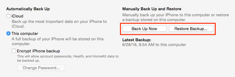 Restore WhatsApp Messages from iTunes Backup