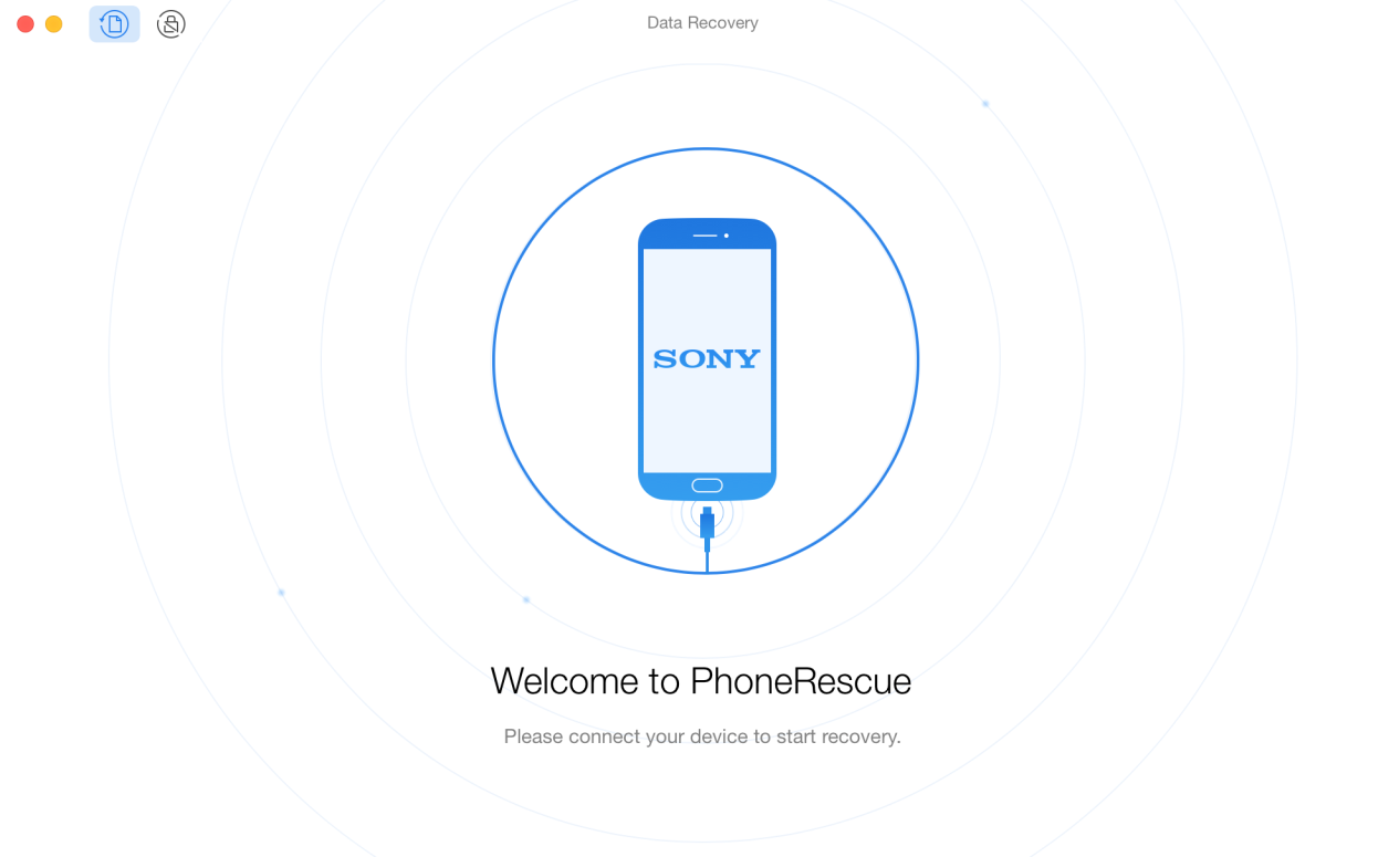 How to Retrieve Deleted Call Log on Sony Xperia  – Step 1