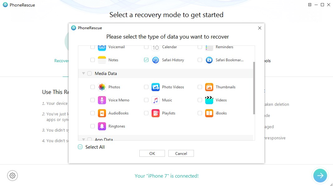 How to Recover Deleted History on iPhone – Step 2