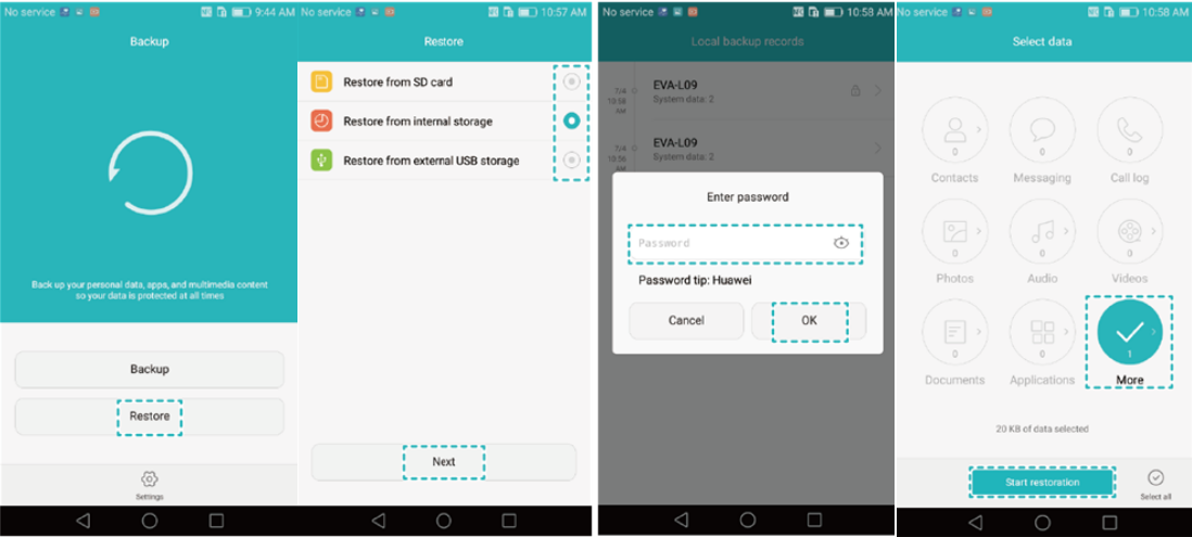 How to Restore Deleted Messages with Huawei Backup app