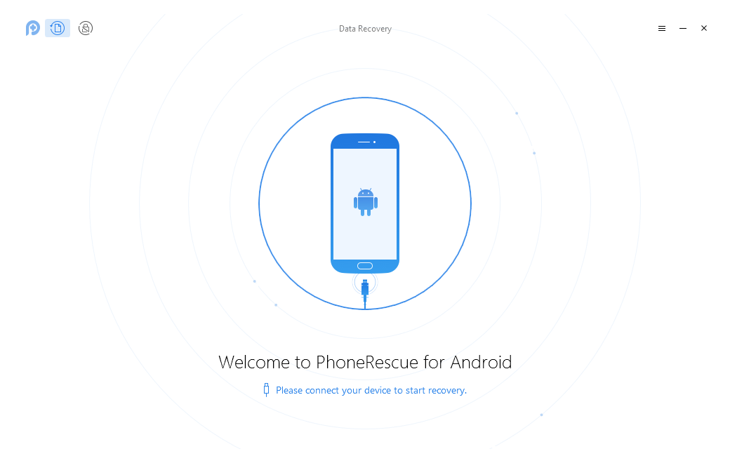 Plug-in the phone and open the app