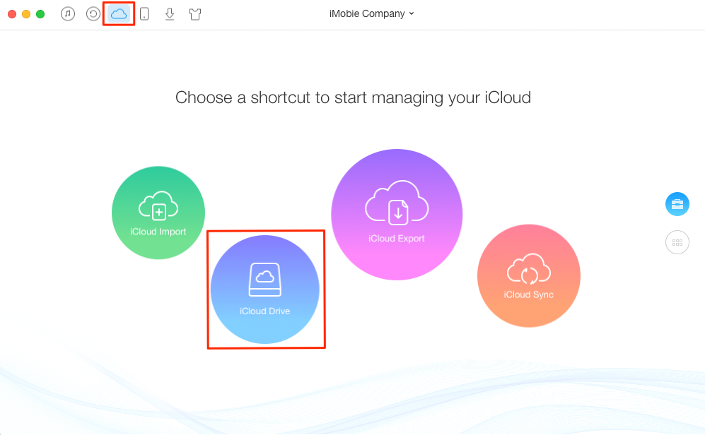 How to Save Files to iCloud Drive via AnyTrans – Step 1