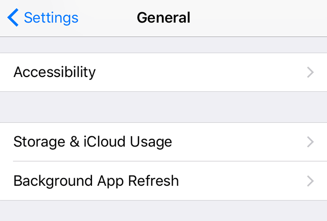 Open the Accessibility Option on Your iPhone