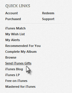 iTunes Quick Links