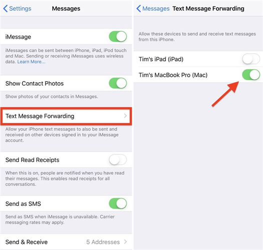 Sending Text Messages to Non-iPhone Users from Mac - Step 5
