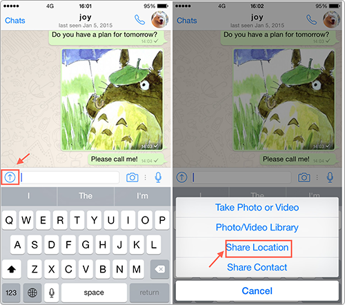 How to Send Location on iPhone via WhatsAPP
