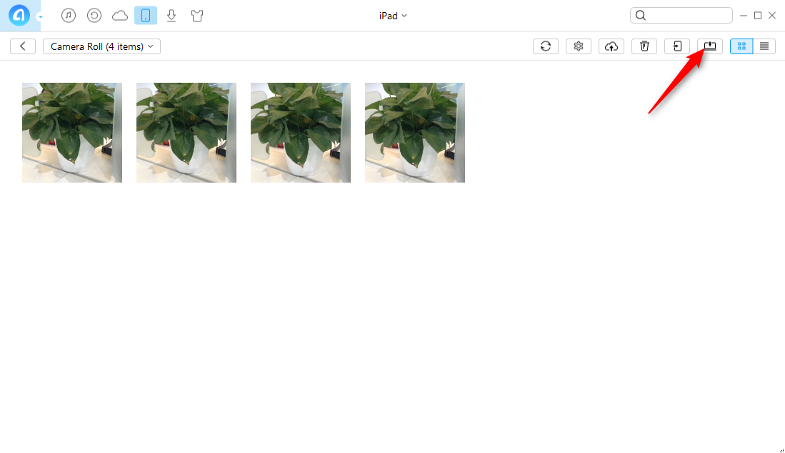 How to Send Photos from iPad to PC - Step 4